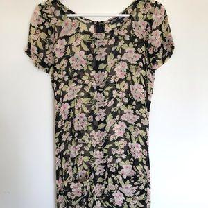 Vintage Betsey Johnson Sheer Floral Dress